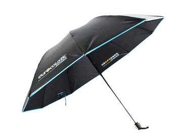 3 Folding Automatic Portable Rain Umbrella Custom Logo For Travelling