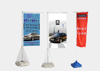 Promotional Strong Beach Feather Flags , Outdoor Advertising Beach Feather Flags