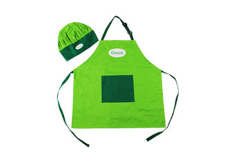 Adjustable Cotton Promotional Printed Aprons Customized Size For Cooking