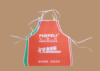 Promotional Custom Cooking Apron Non Woven Fabric Disposable Apron With Logo Printing