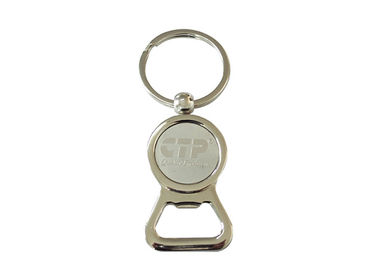 Zinc Alloy Promotional Metal Keychains Bottle Opener With Custom Logo
