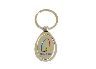 Logo Printing Promotional Key Holder , Trolley Coin Holder Metal Keyring
