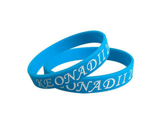 Embossed Soft Rubber Promotional Bracelets With Silicone Material