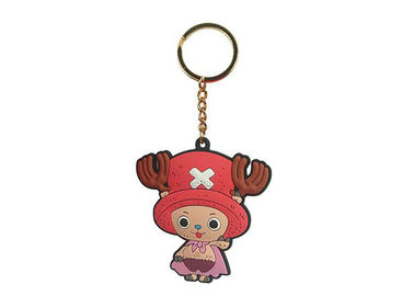 Embossed Plastic Soft Pvc Keychain Rubber Material For Promotional Gifts