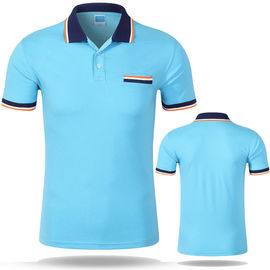 Polo Promotional T Shirts Custom Logo Short Sleeve 100% Cotton Material