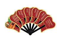 Custom shaped 3d pvc advertising promotional hand fan with logo print
