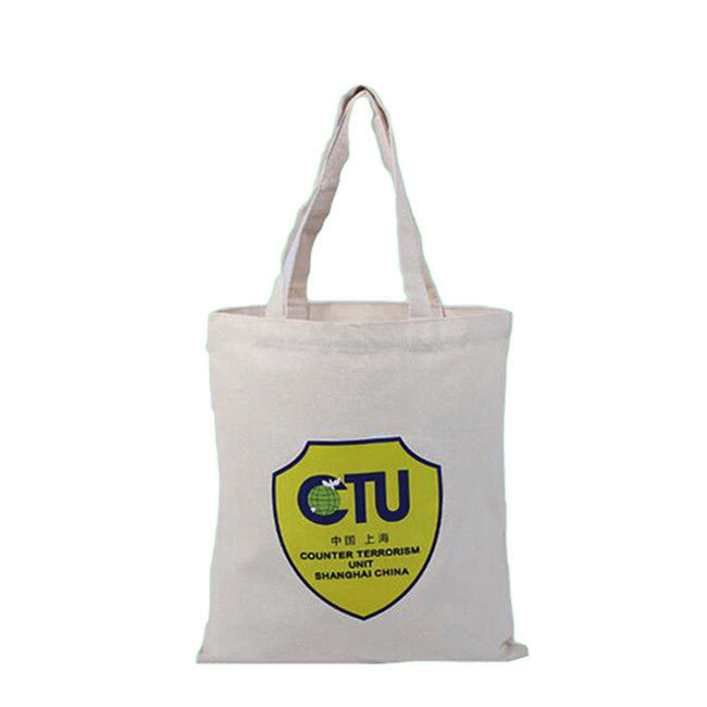 Recycle Custom Beach Bags Canvas Drawstring Promotional Reusable Bags